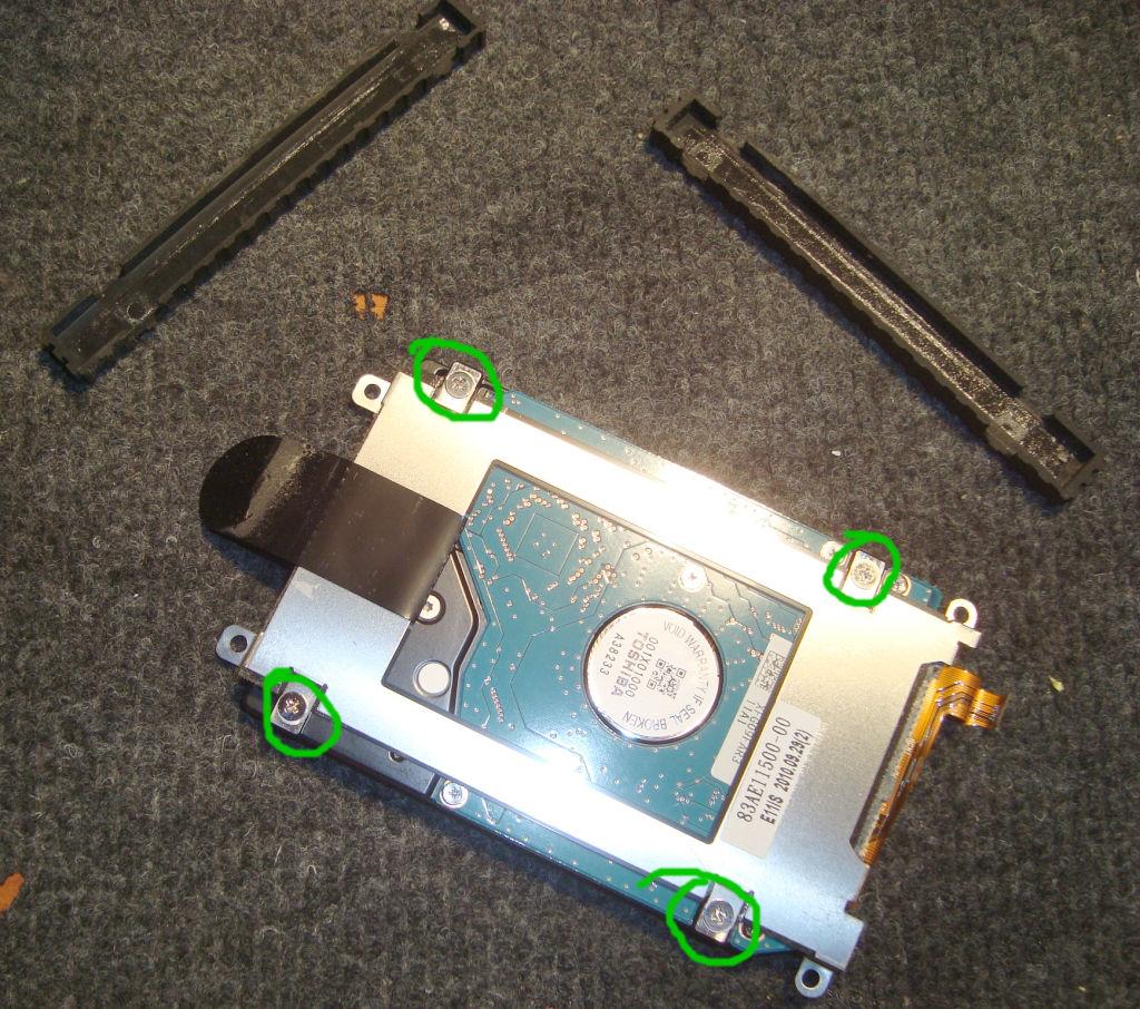 Cambio de disco a Netbook Exo X355