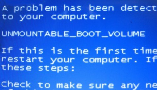 Solución error unmountable_boot_volume