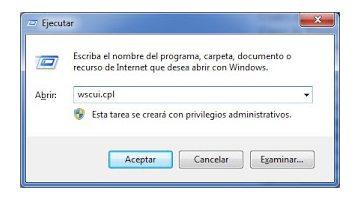 EJECUTAR del Menú Inicio de Windows