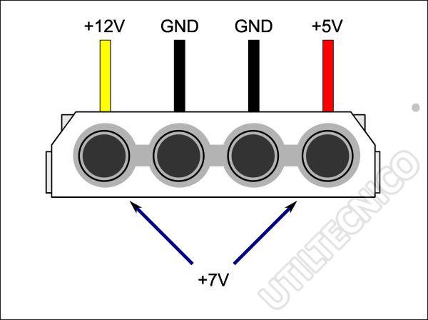 Esquema de Voltajes en conector molex