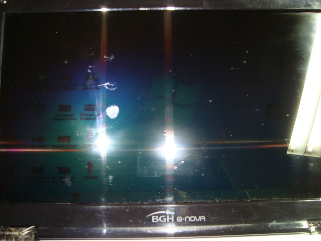 Notebook con pantalla negra, no Backlight