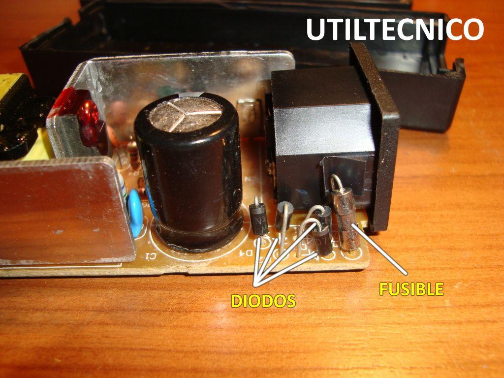 Reparación fuente de alimentación para disco duro