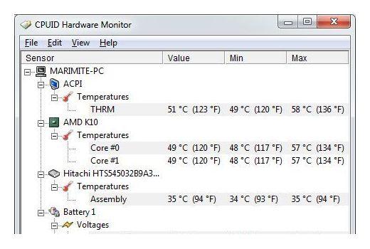 Programa para ver las temperaturas en Disco, CPU y GPU