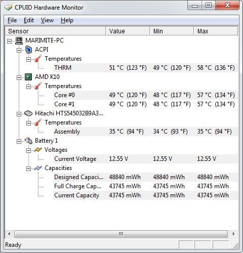 Leer las temperaturas en Disco, CPU y GPU