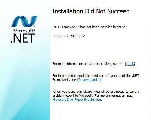 Solución al error HRESULT 0xc8000222 en .Net Framework