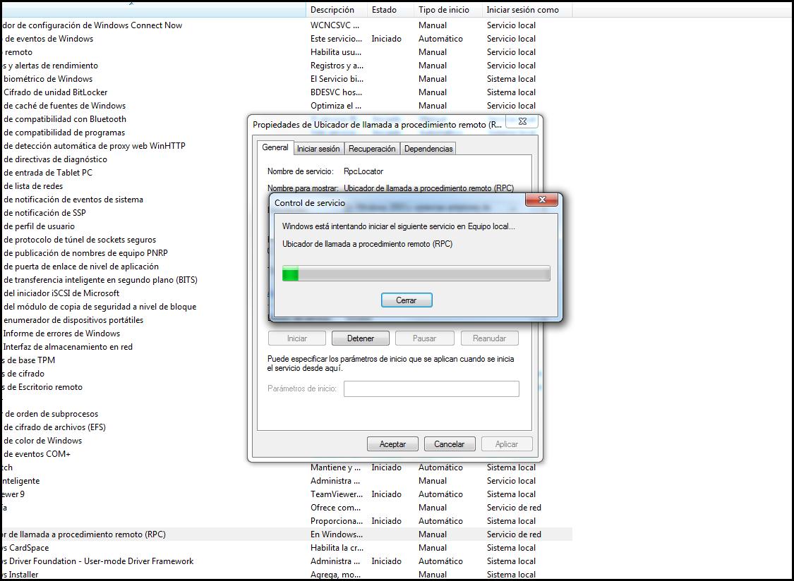 """Solución a """"El servidor RPC no está disponible"""""""