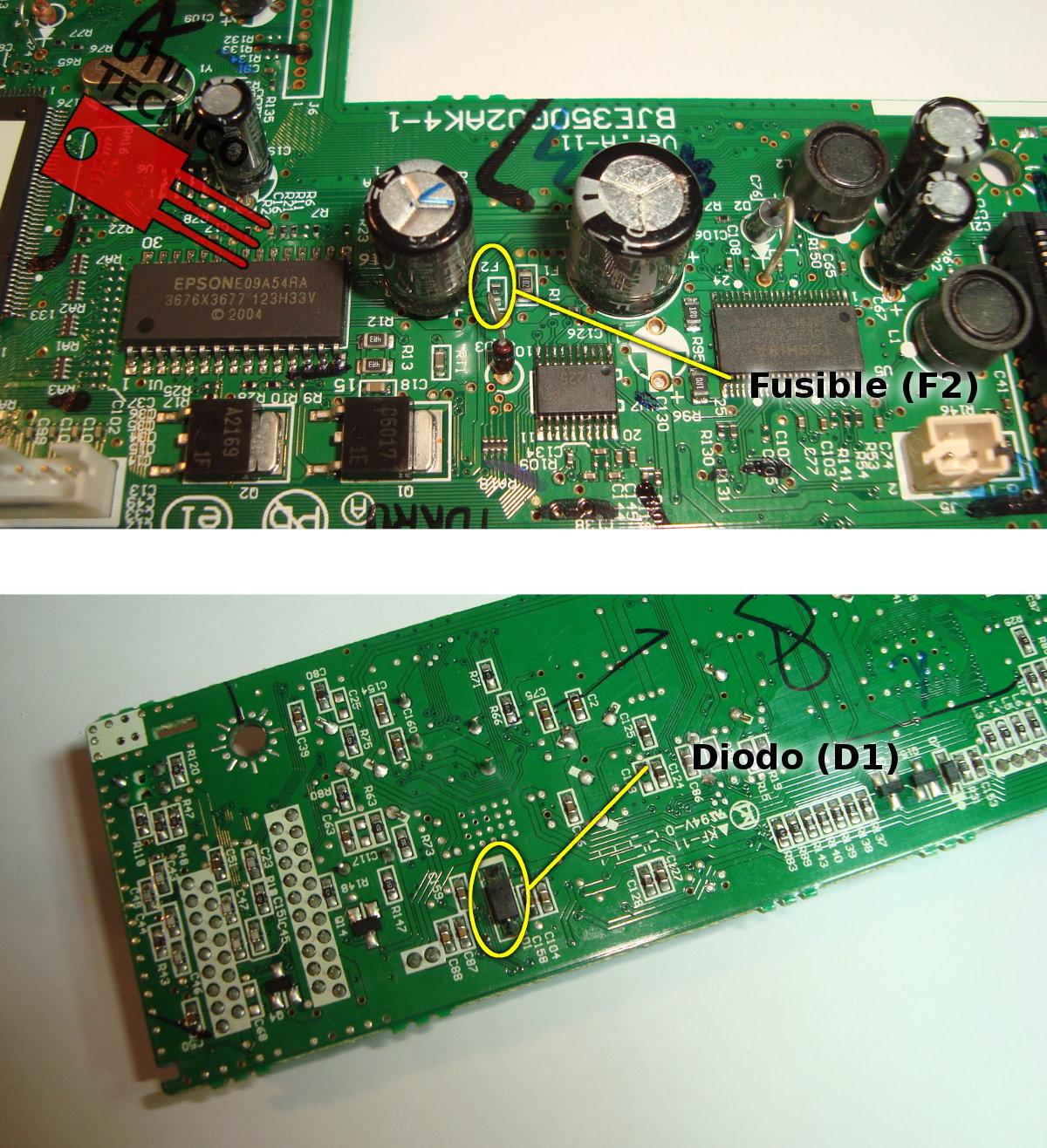 Reparación Impresora Epson TX135 y similares no enciende