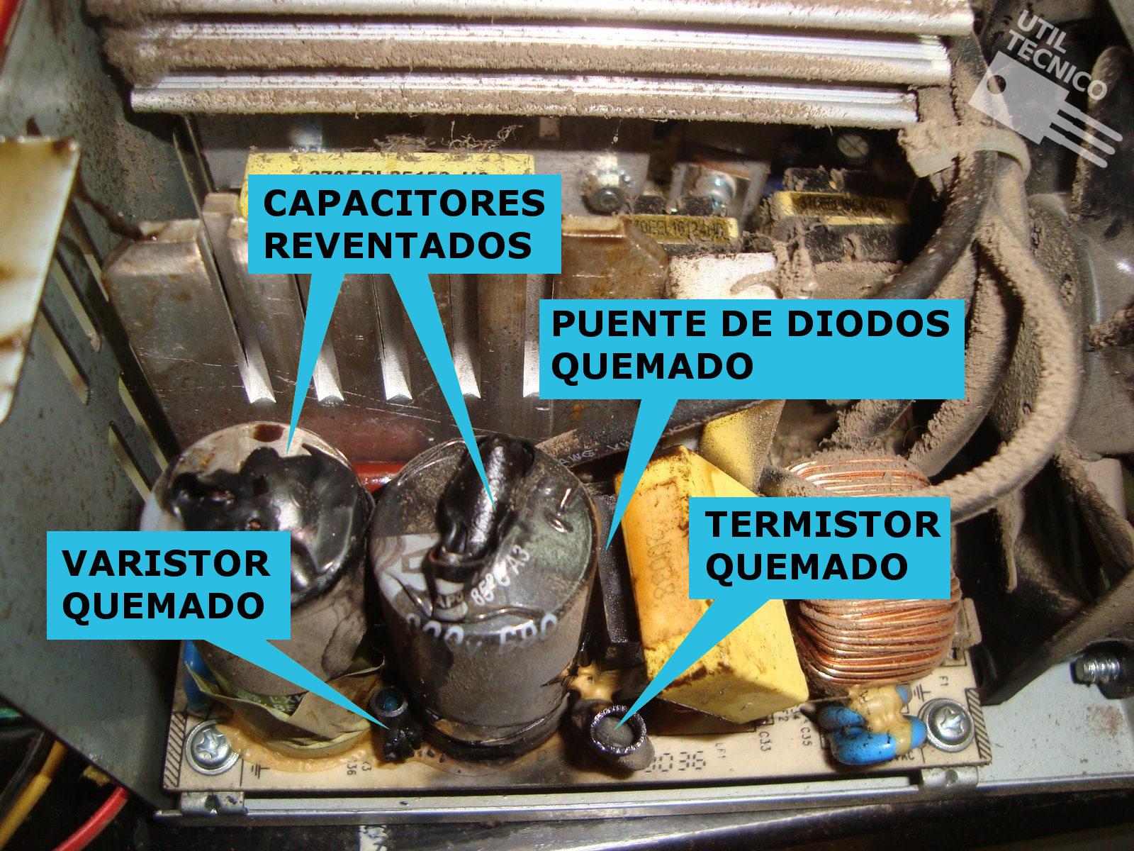 Explosión en fuente por cambiar switch de voltaje 110-220V