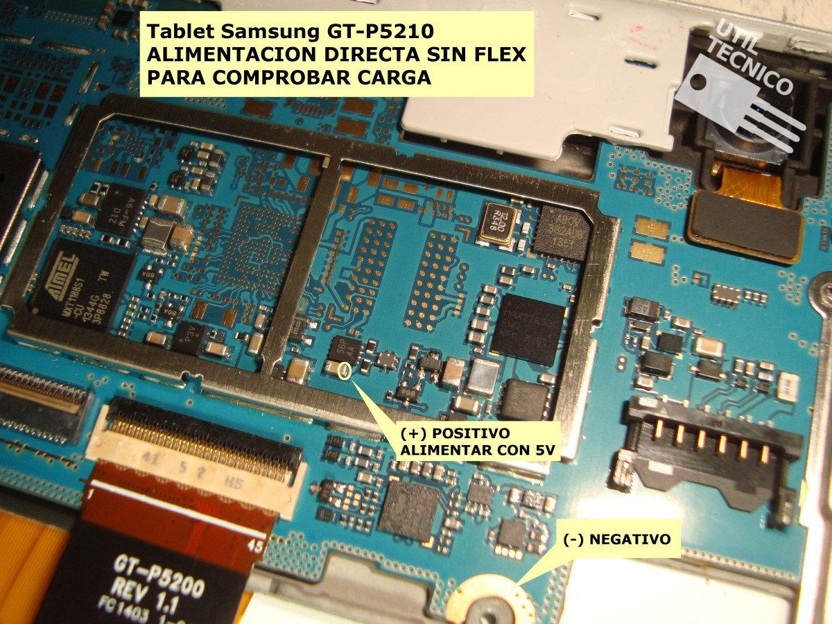 Samsung Galaxy Tab GT-P5210 lineas de carga
