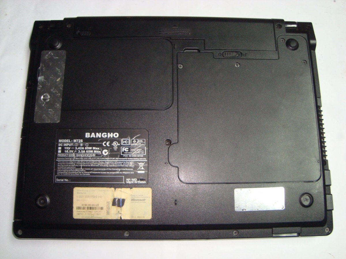 Drivers notebook Bangho M72S
