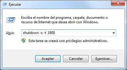 Programar apagado de Windows sin programas