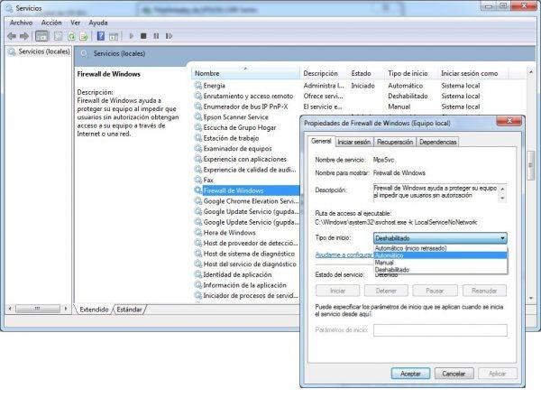 Error 0x000006d9 al compartir impresora en Windows 7