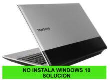 Samsung RV511 no se puede instalar Windows 10 pantalla negra logo congelado