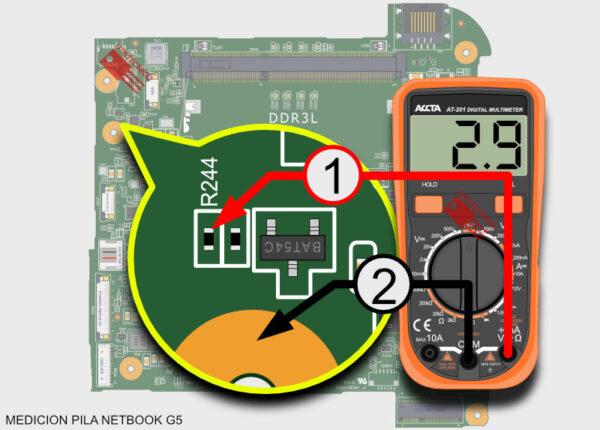 Medir la pila de la Netbook G5 quinta generación